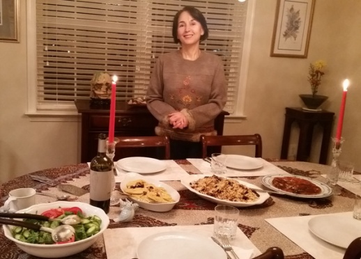 Azita Houshiar Persian dinner table