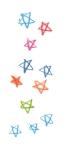 stars color pencil icon graphic