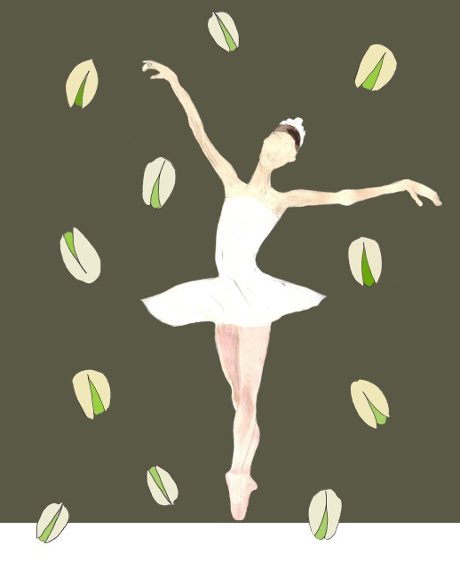 1-Illustration Ballerina timer pistachios drawing