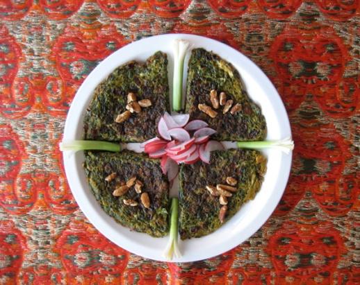 Kuku sabzi Persian herb kookoo recipe azita houshiar