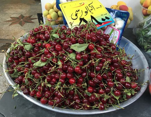 albaloo sour cherry in Tehran Iran | Persian food blog