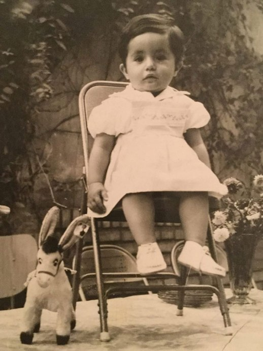 little persian girl with stuffed animal - Iran (Fig and Quince podcast)