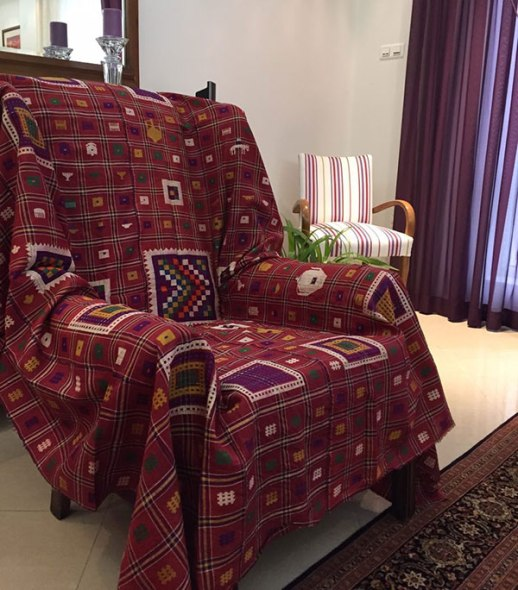 چادر شب ابریشمی قدیمی شمال Silk Persian handmade cloth