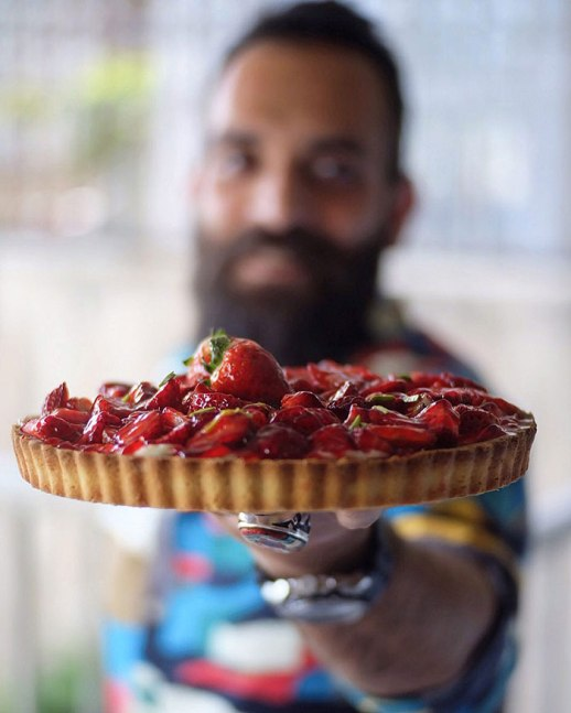strawberry pie homemade Persian dude