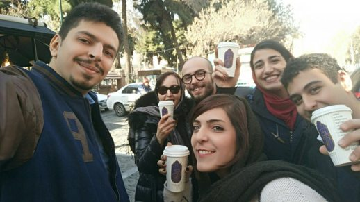 CoffeeXpress group selfie Tehran Iran