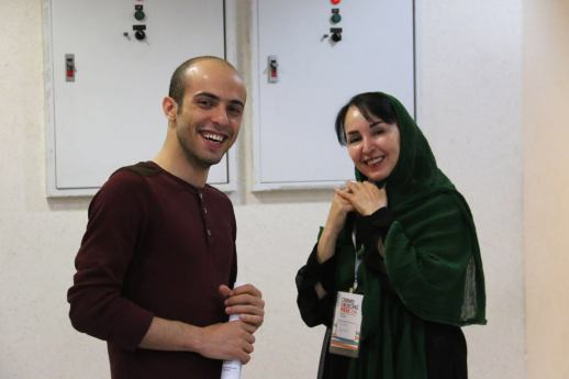 Iman RezaZadeh and Azita Houshiar at Crowdsourcing Summit event in tehran Iran 2016