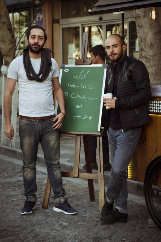 Persian Iranian men hipster coffee Tehran Iran