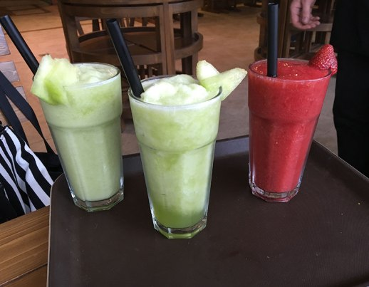 melon and water melon juice in Persian cafe