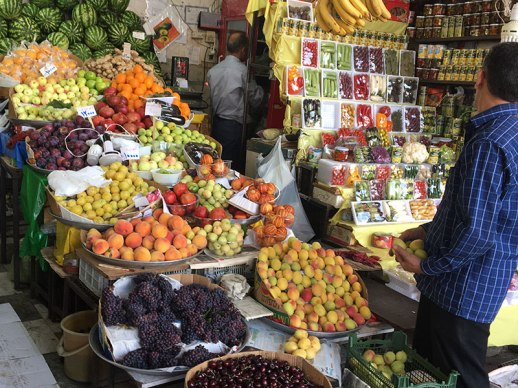 Fruit Stand in Tehran. Summer time.
