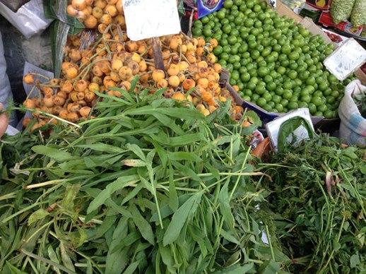 azgil herbs gojeh sabz Persian fruit market in Tehran