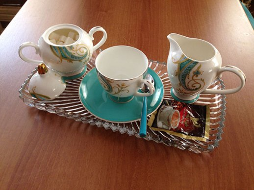 coffee served in wedding china | Persian food blog