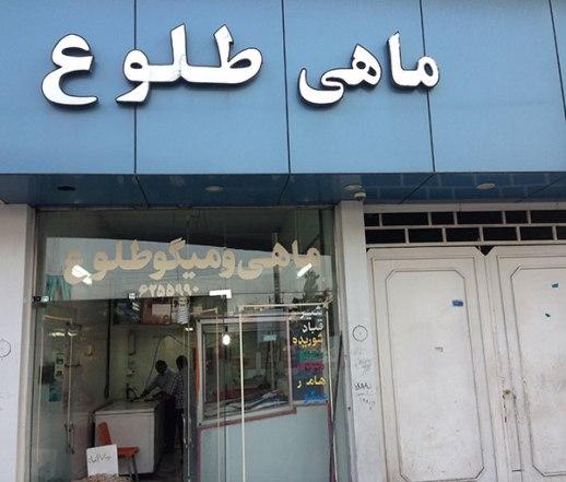 fish shrimp store Shiraz Iran