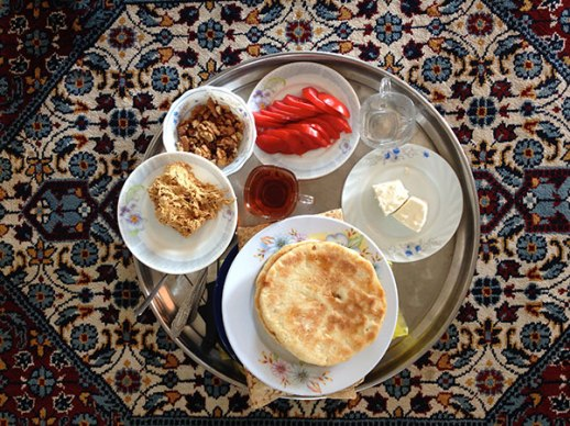 Typical Persian Gulf breakfast jonoob Iran