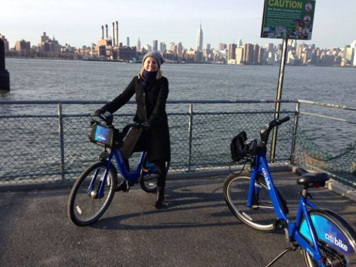 Williamsburg Brooklyn Waterfront with Manhattan Skyline in the BKGD
