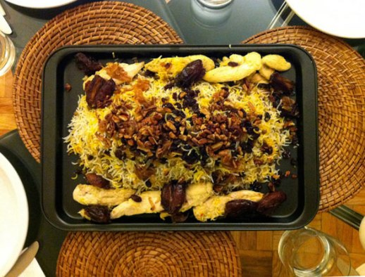 Adas Polo Persian Lentil Rice with raisins and dates