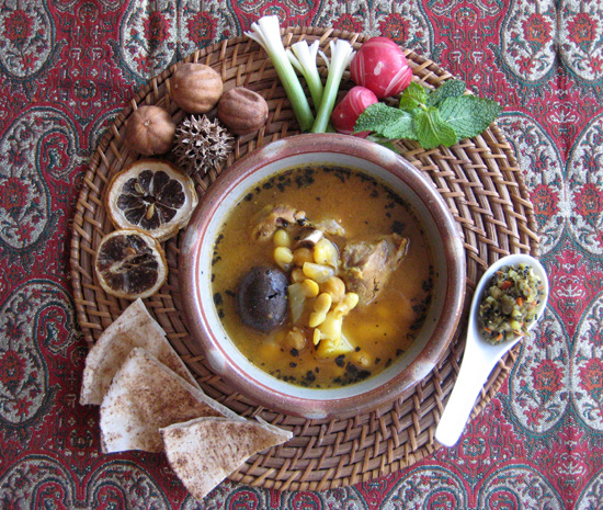 Abgoosht persian lamb soup with chickpeas white beans fig quince abgoosht or abghusht persian lamb soup with beans and chickpeas classic iranian winter food by forumfinder Gallery