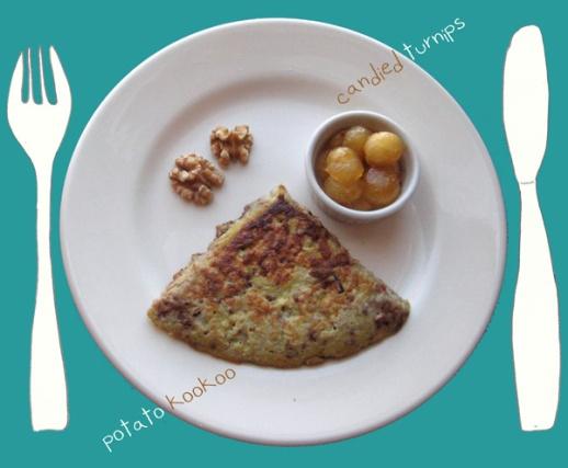 10b-kookoo-potato-sibzamini-walnut-turnip-candy-honey-Persian-cooking-recipe