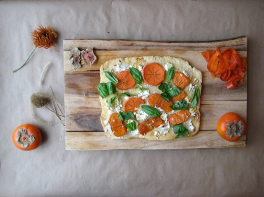 7 persimmon pizza dough Persian food recipe Persianized