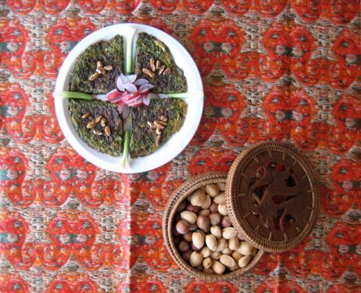 Persian food Kuku Sabzi Persian Green Herb Kookoo