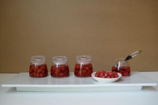 Cornelian cherry jam (moraba hasteh dar zoghal akhteh)