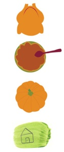illustration vector home turkey pumpkin pie thanksgiving Fig Quince