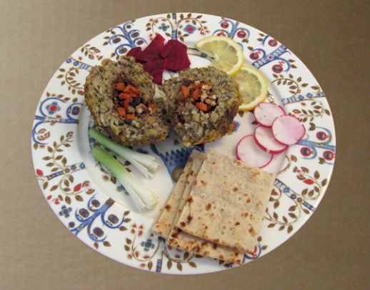 Rice meatballs Persian style (koofteh berenji)