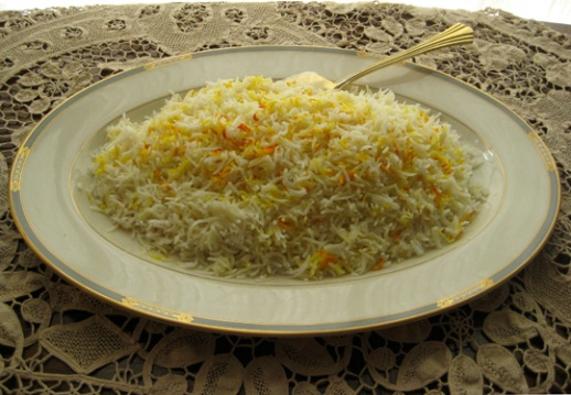 Plain Polo is meant to be paired and served with some type of khoresh.