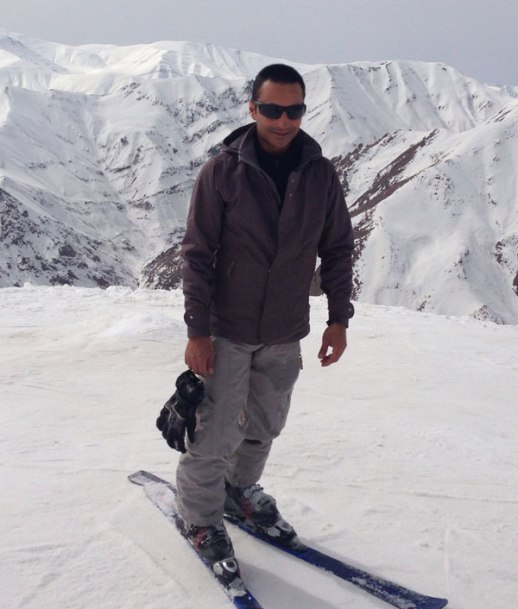 Skier on the slopes in Shemshak, Iran