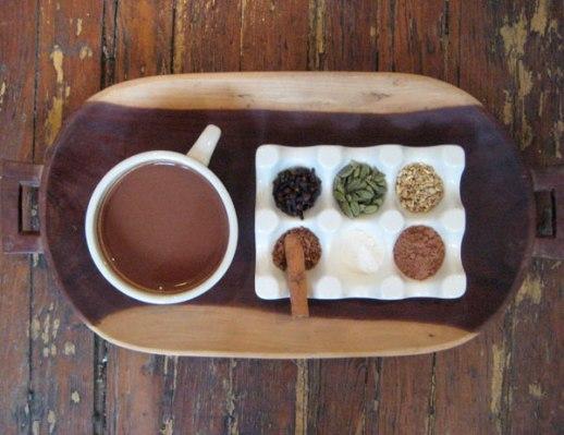 Cocoa Cinnamon Ginger cacao Cardamom Clove Vanilla drink