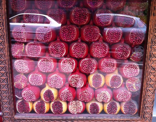 pomegranate anar persian fruit Kiosk stacked