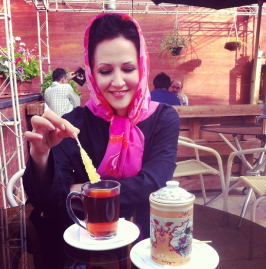 Chai chá cháy chayee Persian tea Tea nabat cafe tehran Iran trendy food blogger Simi kitchen friend meeting