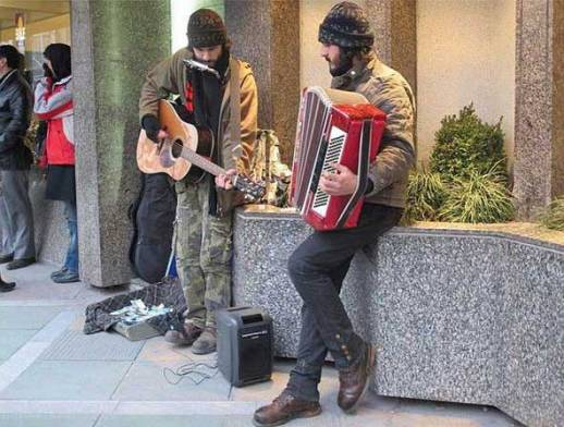 Street Musician Performers (twins? hipsters?)  in Tehran Humans of Iran Hipsters of Iran