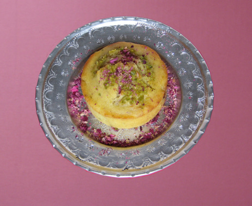 Banana Nut chocolate chip muffins with rosewater and cardamom rose petals crushed Persianized awesome recipe | Fig & Quince (Persian food blog)