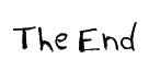 The End script graphic