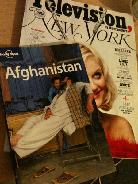 New York Magazine & Lonely Planet Guide to Afghanistan | Bedtime Reading in Kabul | Still life photo by Fig & Quince (Persian food culture blog)