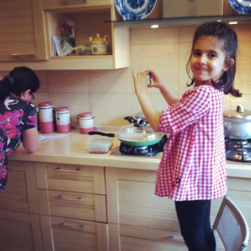 Persian girl little kitchen Iran tehran