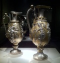 Ancient Persian Ewers with engraved sensuous female figures - Smithsonian Museum of Asian Arts in Washington DC