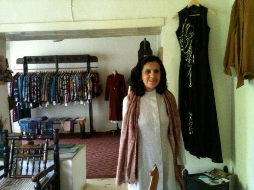 The dignified manager of Zarif Design Atelier in their showroom | Kabul, Afghanistan | photo by Fig & Quince (Persian food culture blog)