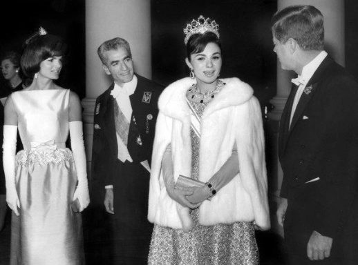 Royal Guests Arrive--President and Mrs. Kennedy welcome the Shah and Empress of Iran as the royal couple arrive the White House tonight for a state dinner in their honor. Tags :