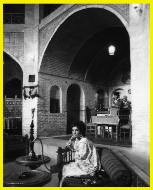 Elizabeth Taylor in a coffee house in Iran - Circa the 1960's? vintage Persian pix