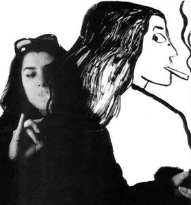 Marjan Satrapi Persian artist filmmaker photo illustration smoking