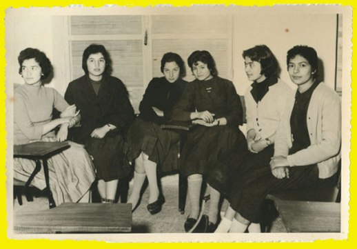 Schoolgirls Persian Iranian Young vintage pix BFF Best Friends snapshot