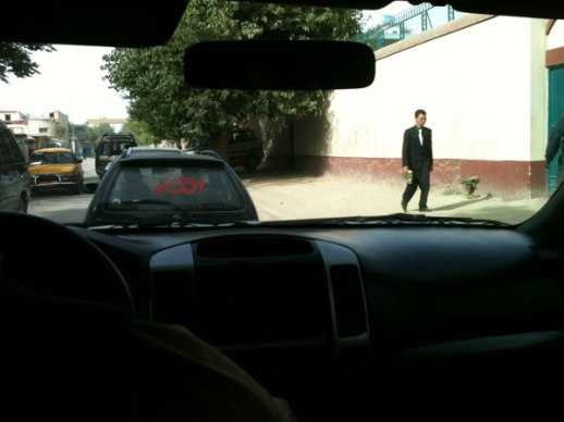 Pedestrian-car-Kabul-Afghanistan