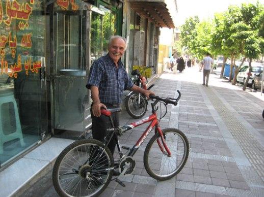 Friendly Persian shopkeeper and his bicycle | Tehran, iran 2014