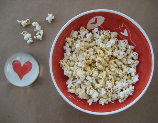 popcorn heart red bowl Persian food blog  Persianized