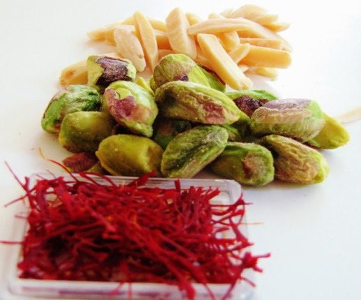 saffron pistachio slivered almonds Persian cuisine hot dogs food blog
