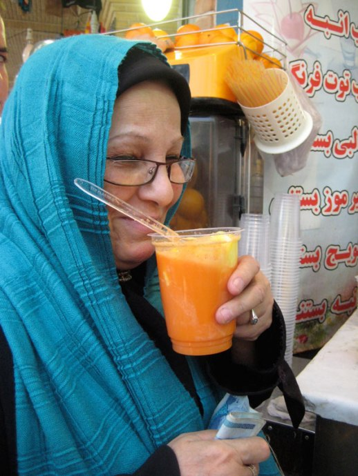 ob havij bastani carrot juice ice cream Tehran