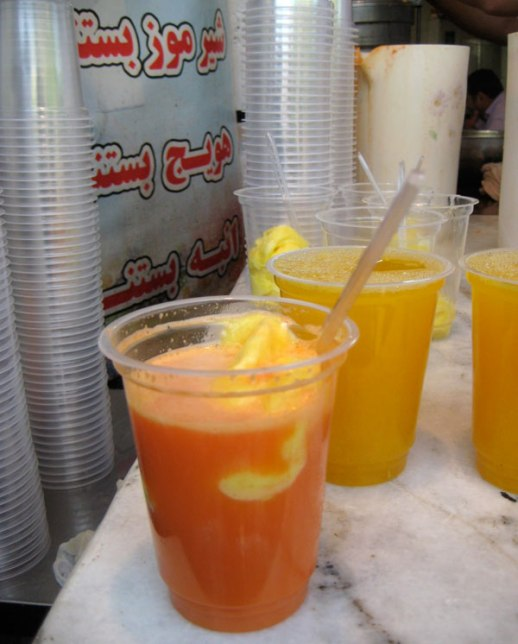 havij bastani carrot ice cream persian drink sweet Iran