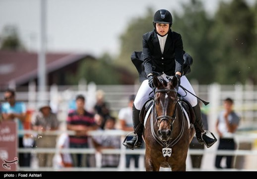 Concours de Saut International held in Tehran | Female Horseback Rider