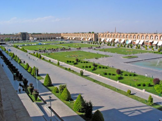 Isfahan nesfeh Jahan square beautiful Iran photo posted by Fig & Quince (Iranian food culture blog)